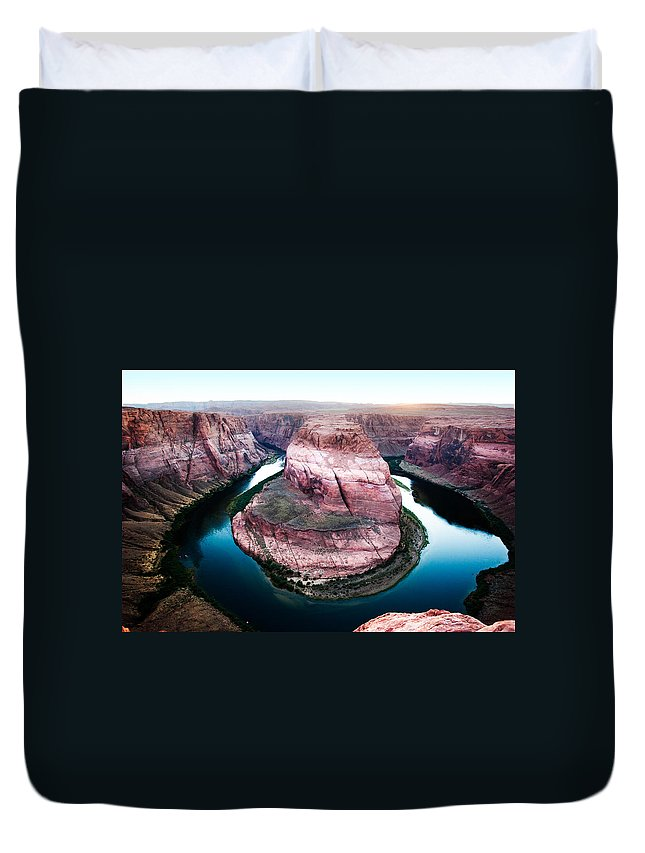 Arizona Duvet Cover featuring the photograph Horseshoe Bend by Jason Smith