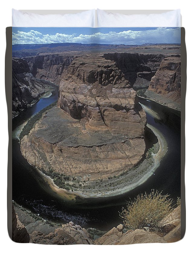 Bronstein Duvet Cover featuring the photograph Horseshoe Bend by Sandra Bronstein