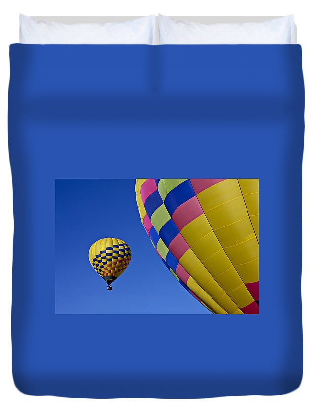 Hot Air Balloons Duvet Cover featuring the photograph Hot Air Balloons by Garry Gay