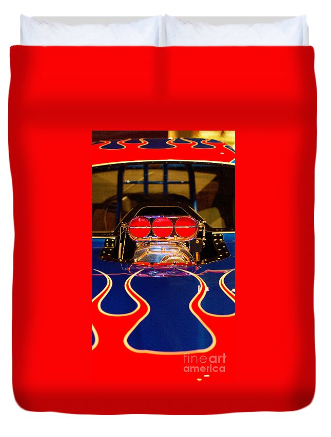 Hot Rod Duvet Cover featuring the photograph Hot Rod 1 by Micah May