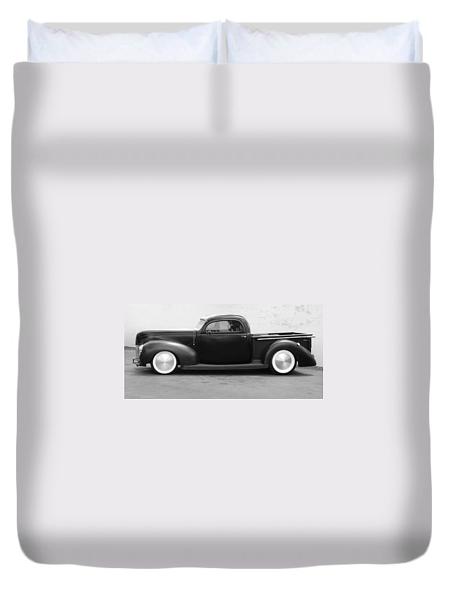 Hot Rod Duvet Cover featuring the photograph Hot Rod Pickup by Rob Hans