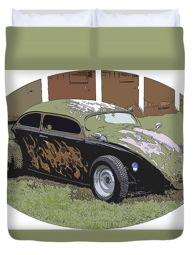 Hot Rod Vw Bug Duvet Cover