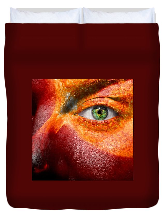 Art Duvet Cover featuring the photograph Hot by Semmick Photo