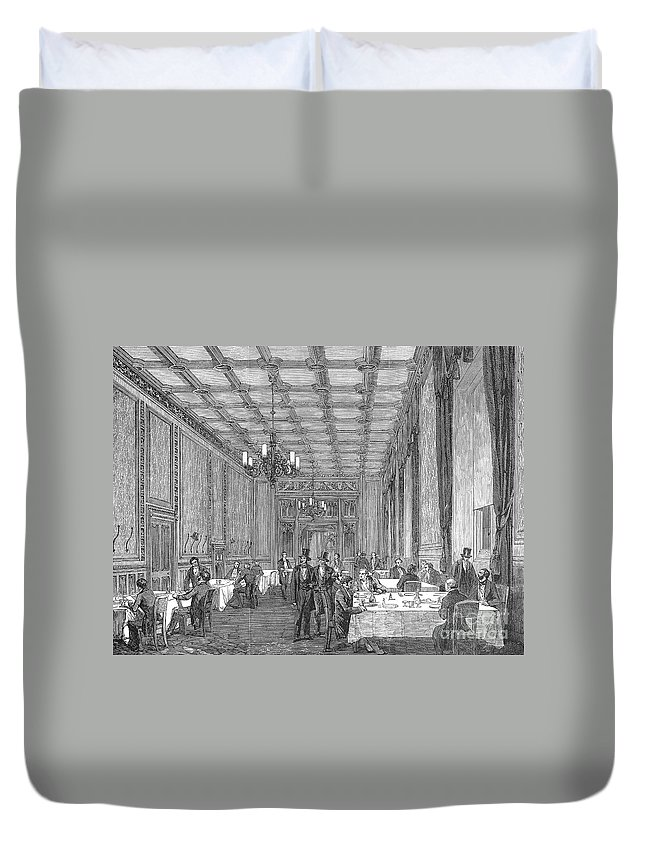 1854 Duvet Cover featuring the photograph House Of Commons, 1854 by Granger
