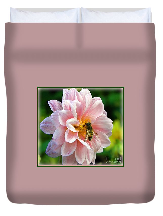 Flower Duvet Cover featuring the photograph How Sweet In Pink by Tisha Clinkenbeard