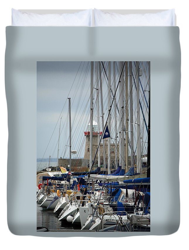 Howth Ireland Duvet Cover featuring the photograph Howth Lighthouse 0003 by Carol Ann Thomas