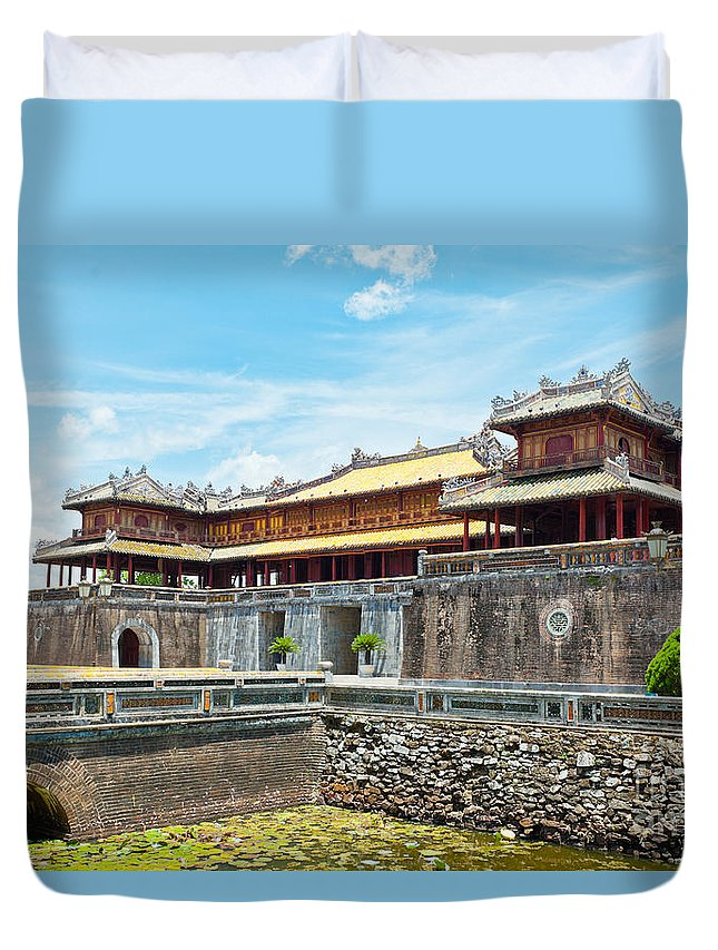 Citadel Duvet Cover featuring the photograph Hue Citadel by MotHaiBaPhoto Prints