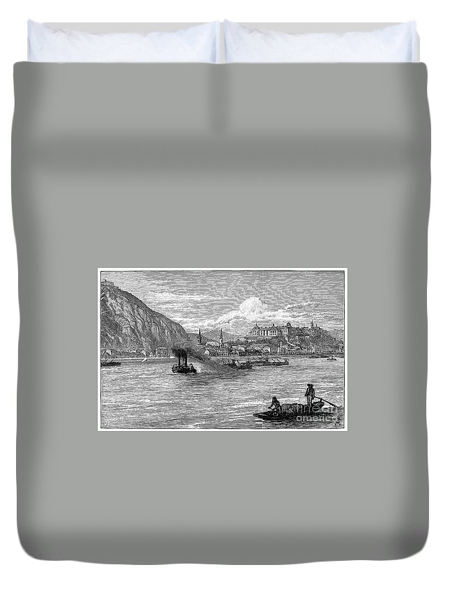 1886 Duvet Cover featuring the photograph Hungary: Budapest, 1886 by Granger