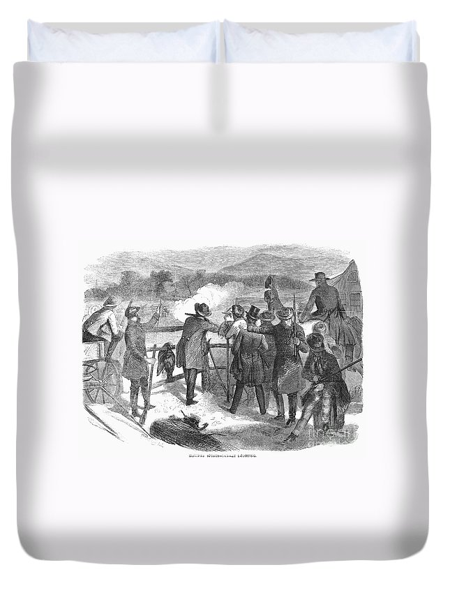 1867 Duvet Cover featuring the photograph Hunting: Turkey, 1867 by Granger