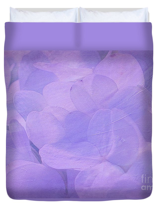 Violet Duvet Cover featuring the photograph Hydrangea Whispers by Judi Bagwell