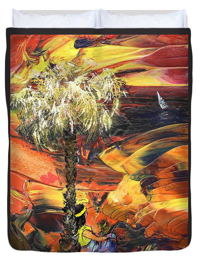 Dream Duvet Cover featuring the painting I Wish I Were There by Miki De Goodaboom