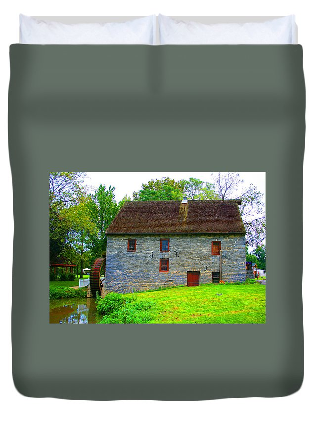 Water Mill Duvet Cover featuring the photograph Il Mulino Ad Acqua by Tila Gun