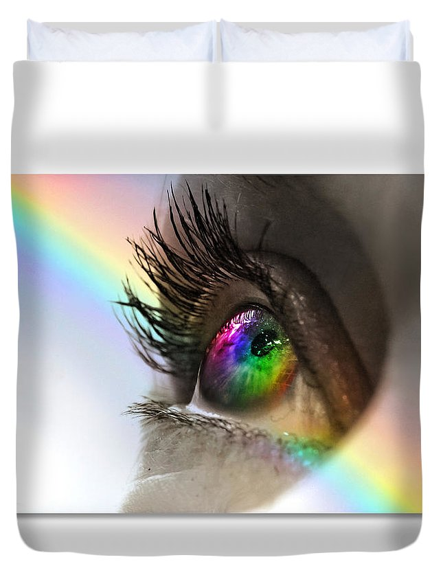 Eye Duvet Cover featuring the photograph Imagine by Mal Bray