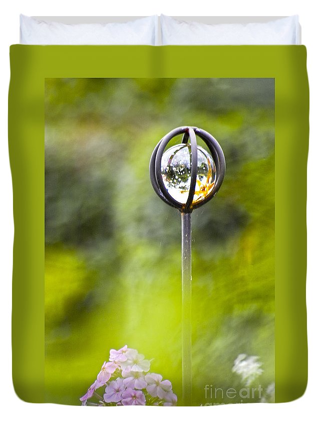 Nature Duvet Cover featuring the photograph In The Garden by Heiko Koehrer-Wagner