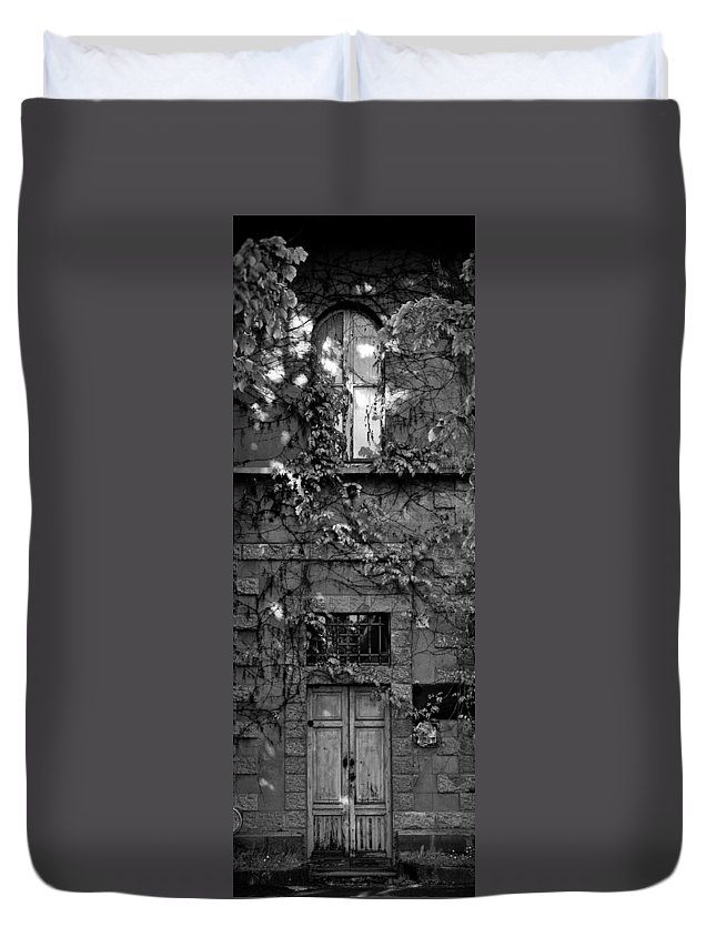 Window Duvet Cover featuring the photograph In The Green by Michele Mule'