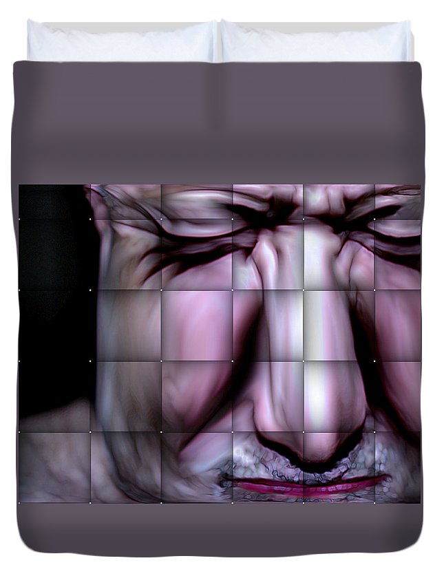 Duvet Cover featuring the mixed media In The Moment by Terence Morrissey