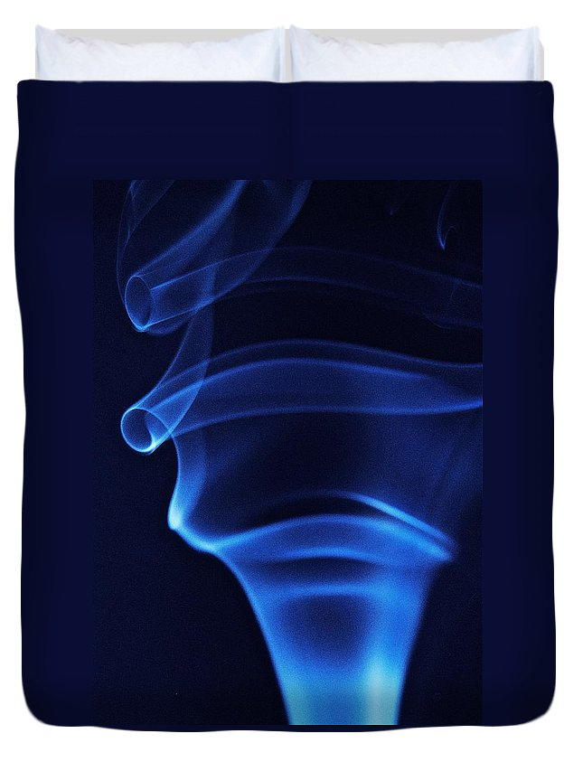 Smoke Duvet Cover featuring the photograph Incense by Michael Peychich