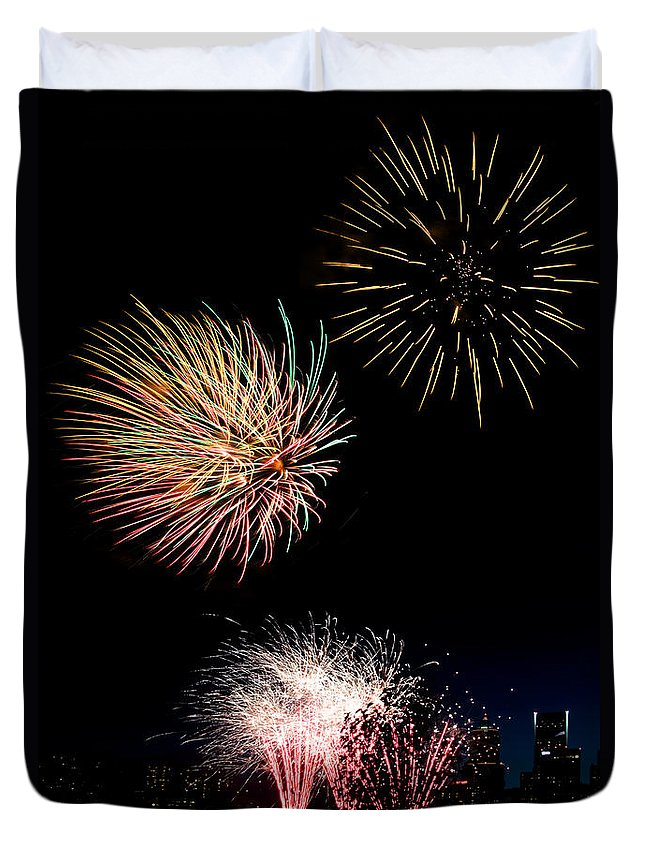 Independence Day Duvet Cover featuring the photograph Independence Day by Wes and Dotty Weber