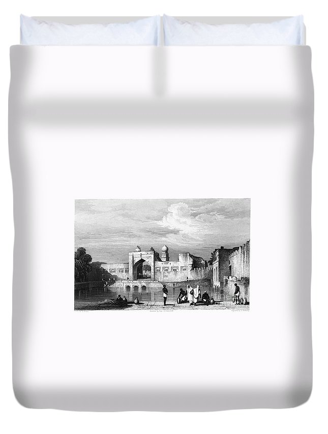 1860 Duvet Cover featuring the photograph India: Bijapur, C1860 by Granger