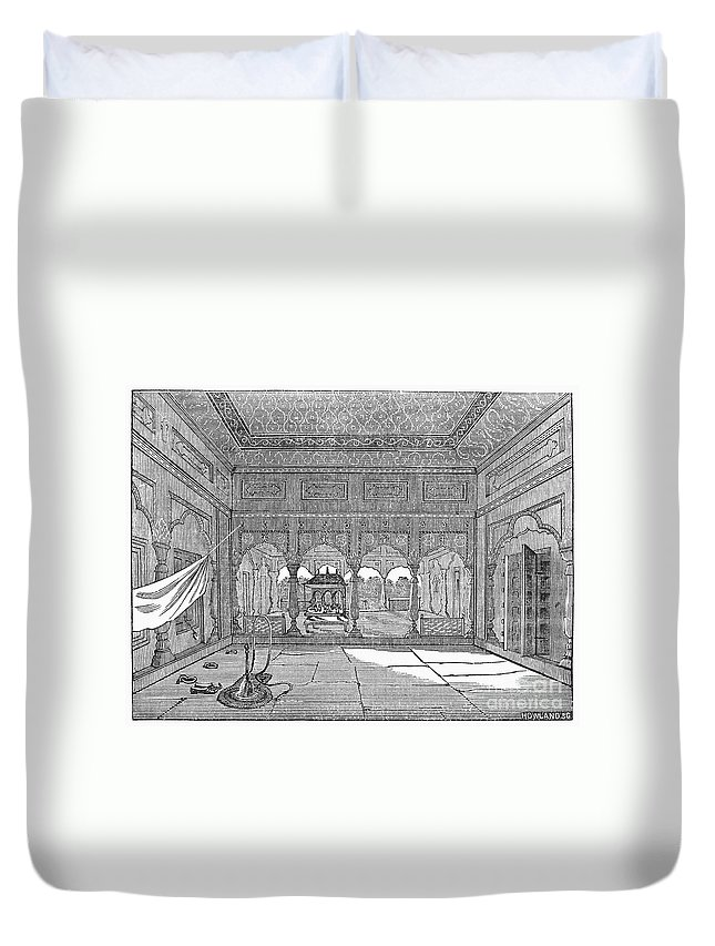1849 Duvet Cover featuring the photograph India: Hindu Temple by Granger