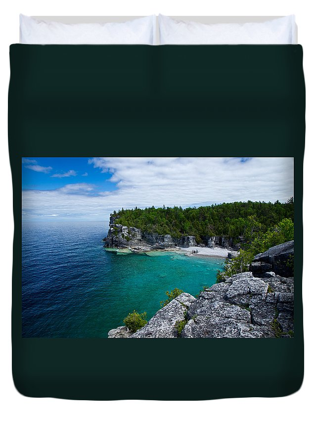 Bruce Peninsula Duvet Cover featuring the photograph Indian Head Cove by Cale Best