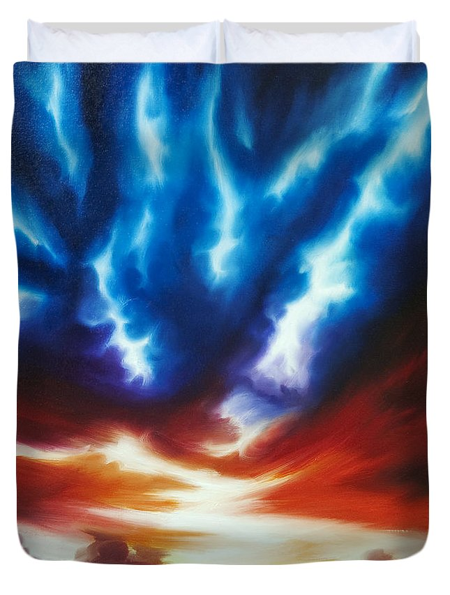 Color Duvet Cover featuring the painting Infinity II by James Christopher Hill