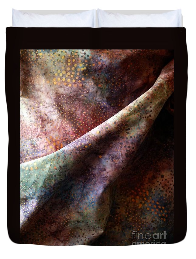 Fabric Duvet Cover featuring the photograph Inquiry by Newel Hunter