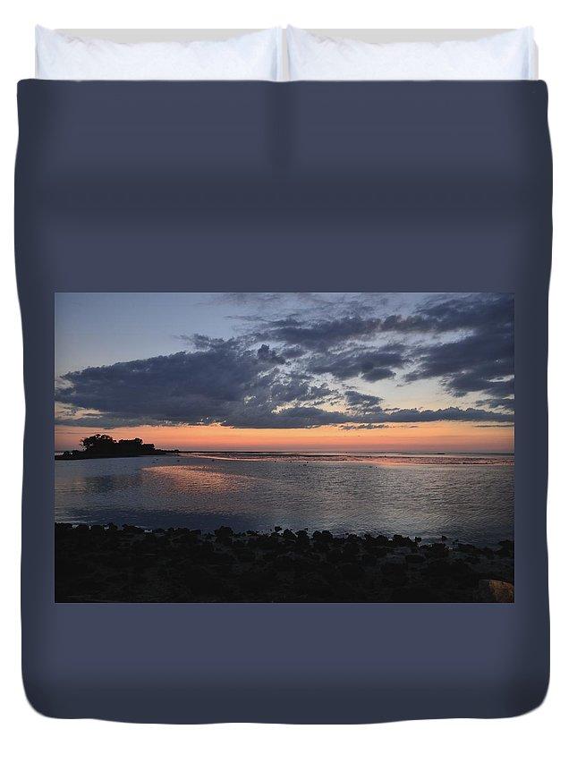 Gulf Duvet Cover featuring the photograph Inspiration by Kari Tedrick