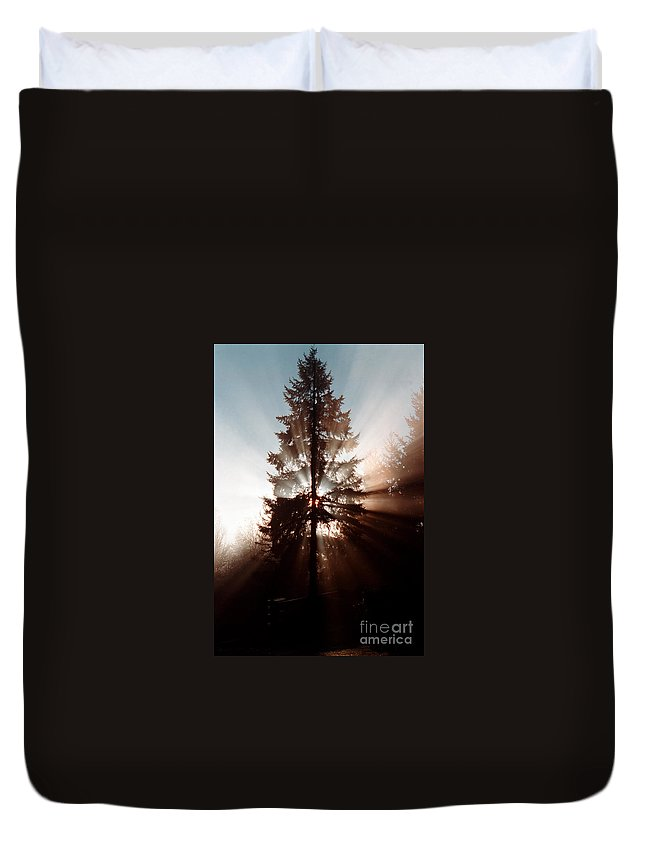 Tree Duvet Cover featuring the photograph Inspiration Tree by Mike Nellums