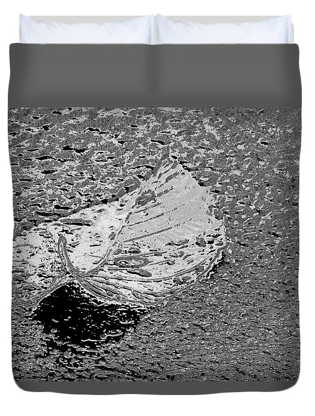 Leaf Duvet Cover featuring the photograph Inspired Mytallique by Marie Jamieson