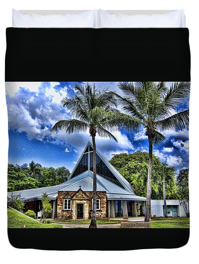 Anglican Duvet Cover featuring the photograph Integrated Old And New by Douglas Barnard