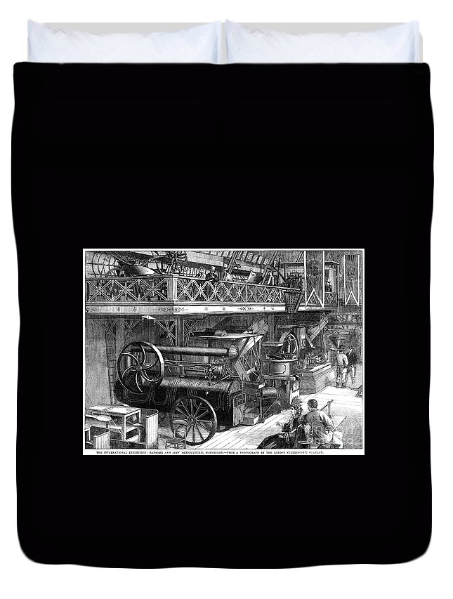 1862 Duvet Cover featuring the photograph International Exhibition by Granger