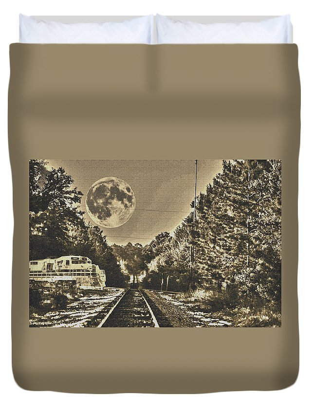 Train Duvet Cover featuring the digital art Intersection by Shannon Harrington