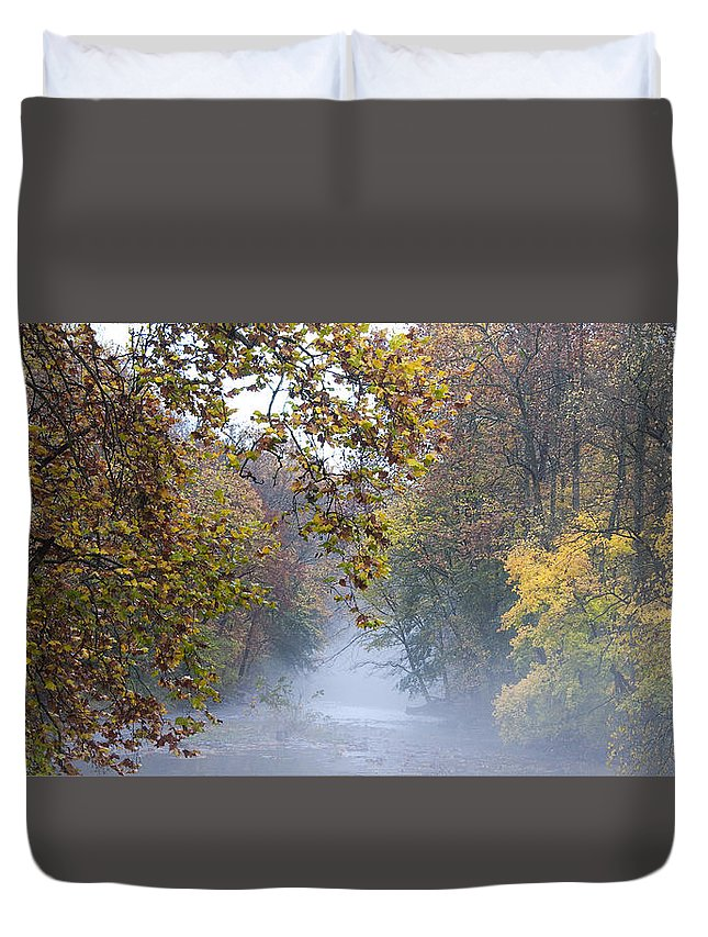 Into The Mist Duvet Cover featuring the photograph Into The Mist by Bill Cannon
