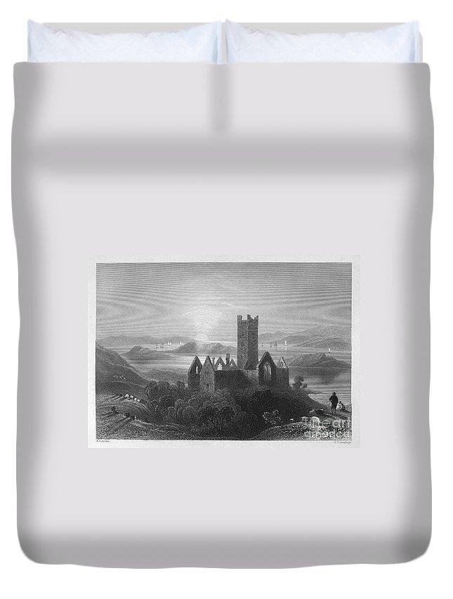 1840 Duvet Cover featuring the photograph Ireland: Rosserk Abbey by Granger