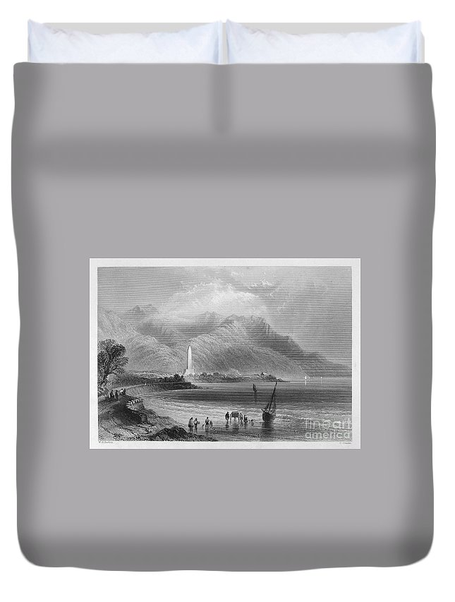 1840 Duvet Cover featuring the photograph Ireland: Rostrevor, C1840 by Granger