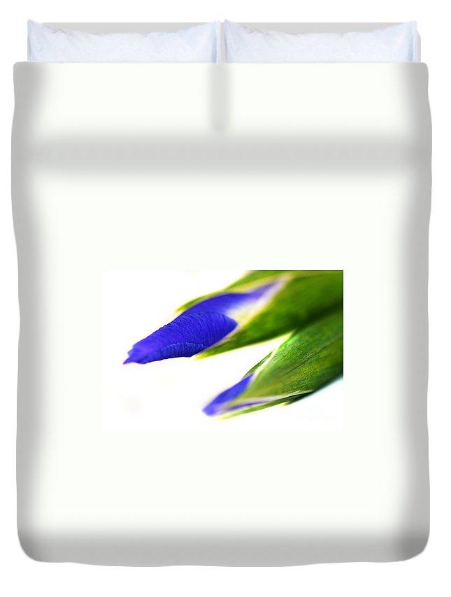 Purple Duvet Cover featuring the photograph Iris by Henrik Lehnerer