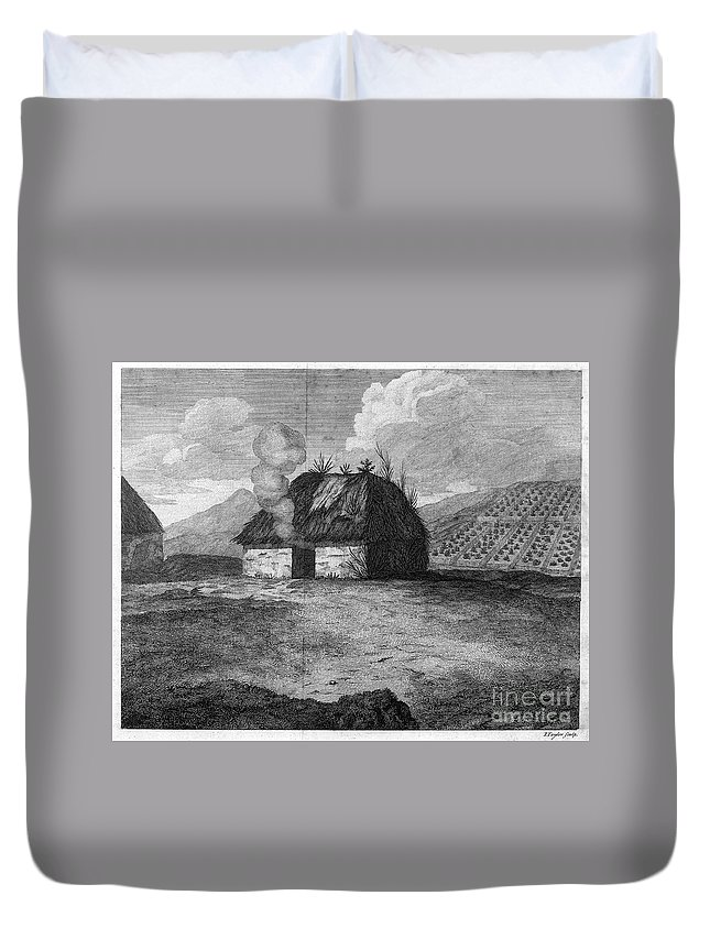 18th Century Duvet Cover featuring the photograph Irish Cabin, 18th Century by Granger