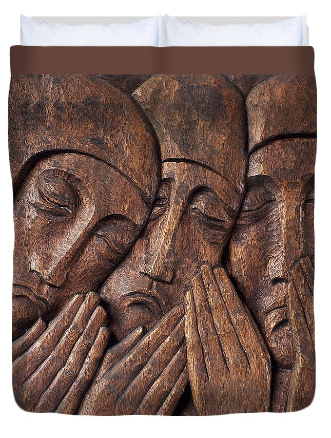 Close-up Duvet Cover featuring the photograph Irish Jewish Museum, Portobello Dublin by The Irish Image Collection