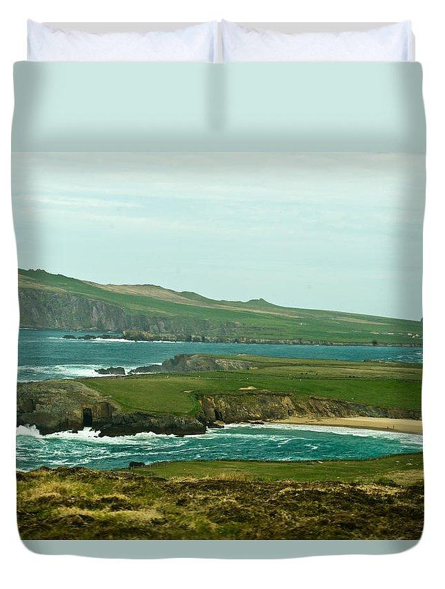 Duvet Cover featuring the photograph Irish Sea Coast 4 by Douglas Barnett