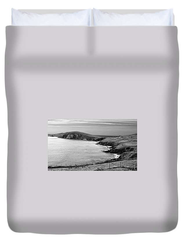 Bw Duvet Cover featuring the photograph Irish Western Coast by David Resnikoff