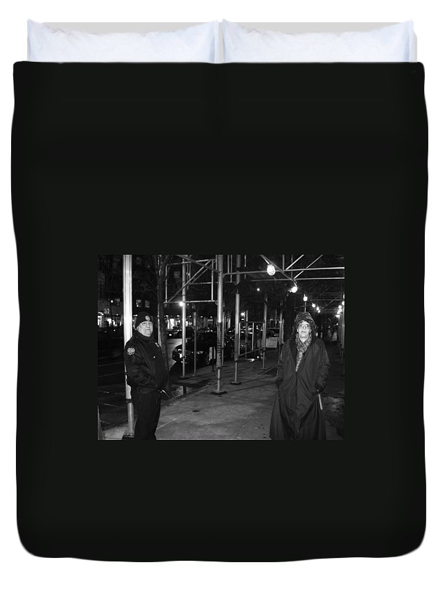 Police Duvet Cover featuring the photograph Is There A Problem Officer by Kym Backland