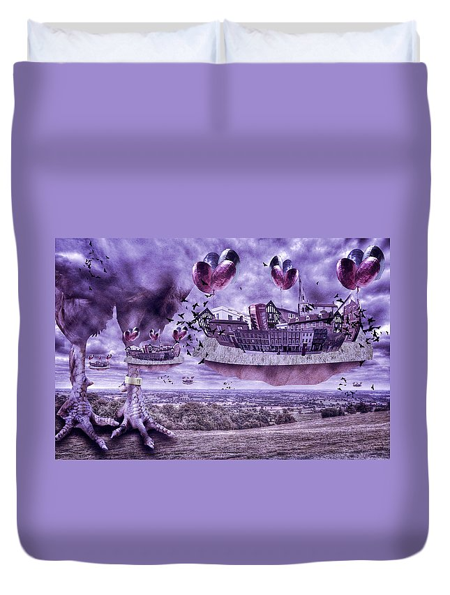Air Duvet Cover featuring the photograph Its An Odd World by Nathan Wright