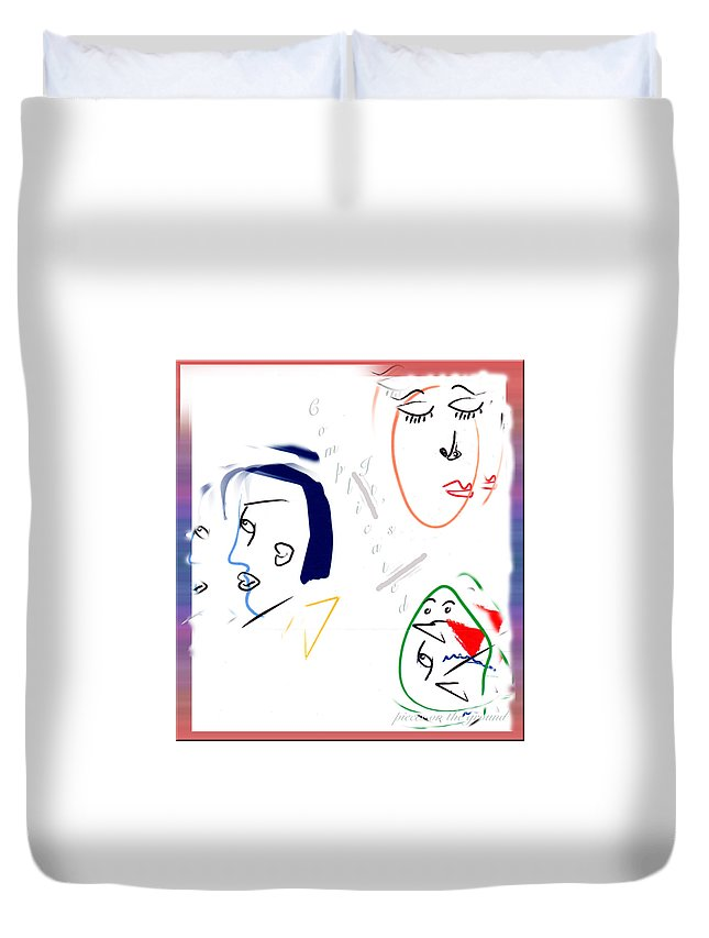 Relationships Duvet Cover featuring the digital art It's Complicated by Marie Jamieson