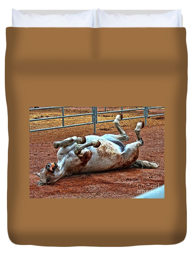 Horse Duvet Cover featuring the photograph I've Got An Itch by Tommy Anderson