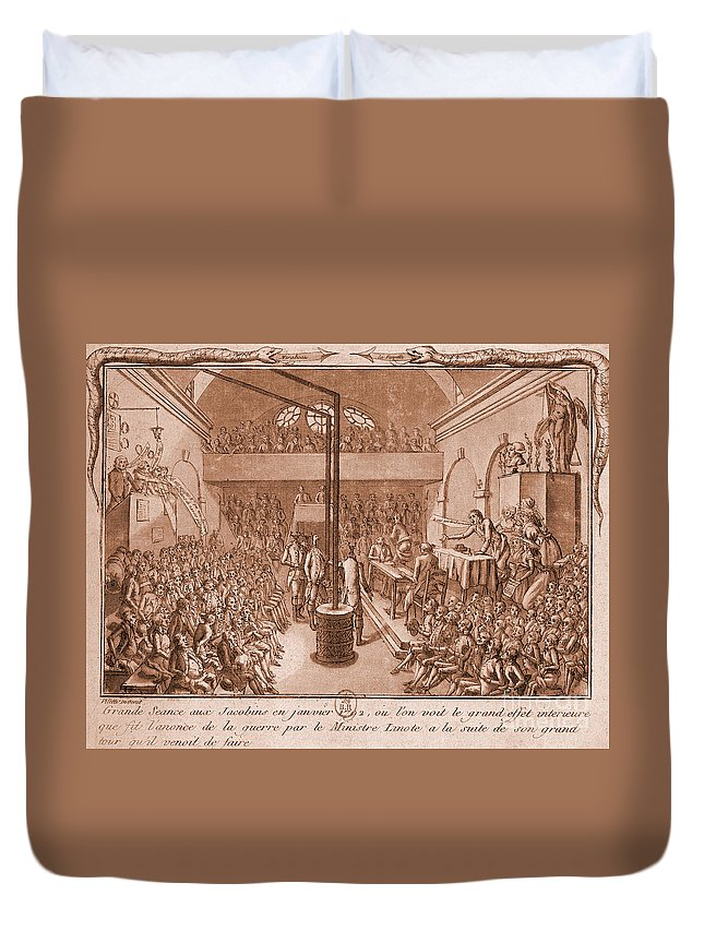 Historic Duvet Cover featuring the photograph Jacobin Club Meeting by Science Source