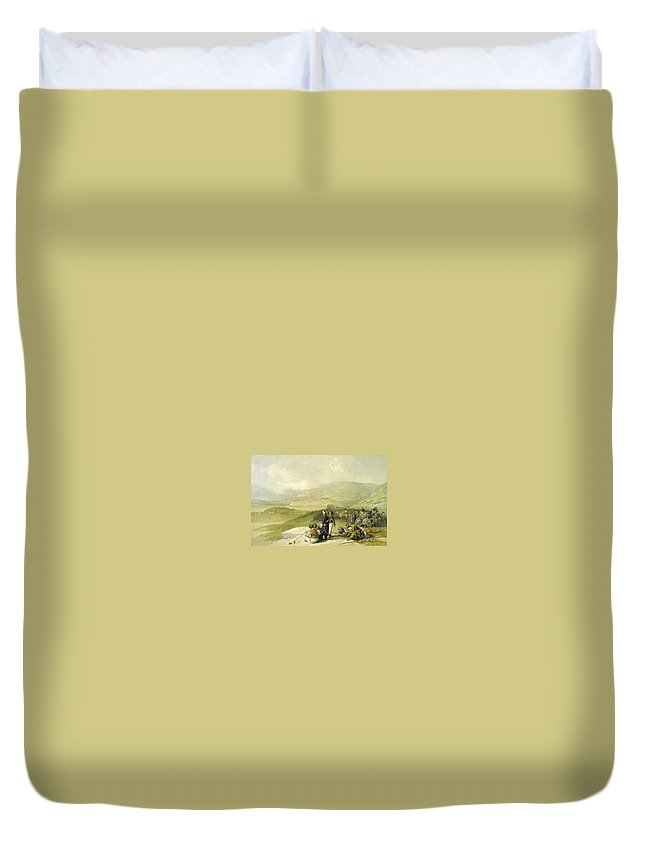 Nablus Duvet Cover featuring the photograph Jacobs Well At Shechem by Munir Alawi