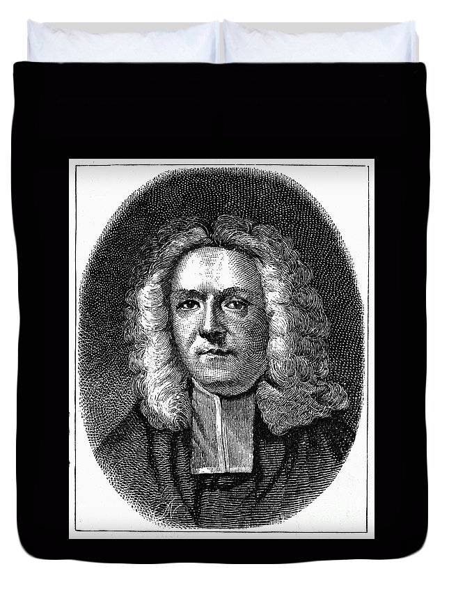 18th Century Duvet Cover featuring the photograph James Blair (1655-1743) by Granger
