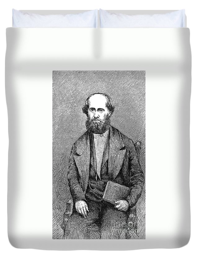 19th Century Duvet Cover featuring the photograph James Jesse Strang by Granger