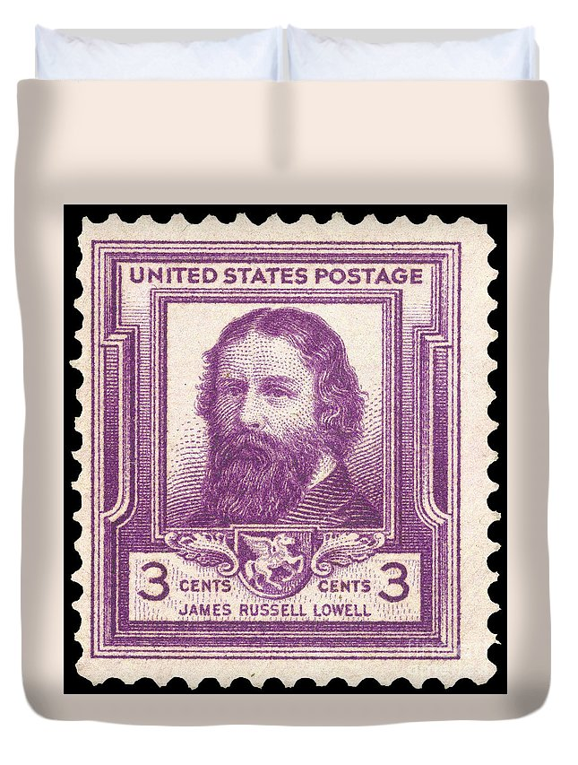1940 Duvet Cover featuring the photograph James Russell Lowell by Granger
